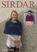 Sirdar Plushtweed - 7875 Capes Knitting Pattern